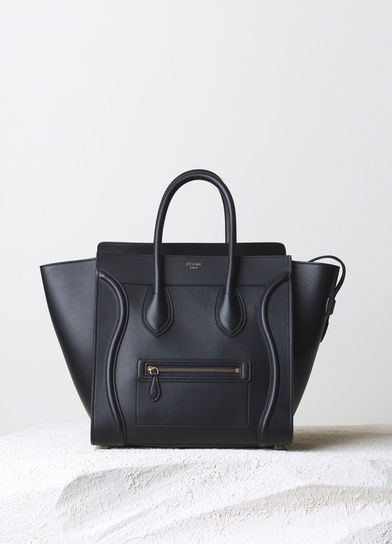 Celine-Black-Smooth-Calfskin-Mini-Luggage-Bag-Pre-Fall-2014